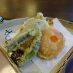 よ志竹 - 天ぷらセットの天ぷら