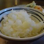 よ志竹 - 天ぷらセットの白飯