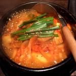 韓国料理 炎 - スンドゥブチゲスープ