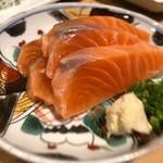 酒呑蕎食〆タグル - 秋鮭のこぶじめ