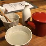 酒呑蕎食〆タグル - 焼酎蕎麦湯割り