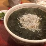 酒呑蕎食〆タグル - しらす花巻そば