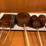 119544934 - 味噌おでん(左から卵、里芋、大根、こんにゃく、豆腐)