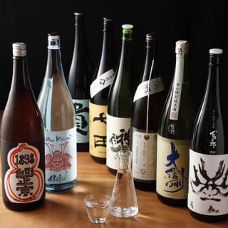 こだわりの日本酒10種以上飲み放題