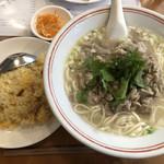 119558664 - ・羊肉麺+半チャーハン 1,000円