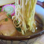 麺屋 高橋 - おさかな正油らーめんの麺