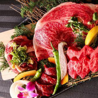 阿波黒牛の高級部位ステーキ盛合せを税込5,490円から提供♪