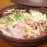膳処くろひめ - 翠鶏鍋(みどりなべ)絶品糸魚川地鶏と糸魚川野菜、こだわりの鶏ガラ出汁汁が大人気です。