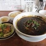 三辣居 - 担々麺セット(黒胡麻)