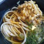 工場レストラン健食たぬみせ - ひきわり納豆を蕎麦に入れると絶品!