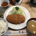 井泉 - ヒレカツ定食1900円です