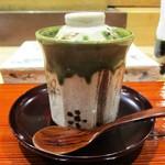 鮨旬美西川 - 梅の茶碗蒸し:具を使用していない お出汁の効いたプレーンの茶碗蒸しです。 トッピングされた梅肉のお味が生きていますネ!     2019.11.02