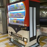 名物 万代そば - バスのペインティングの販売機