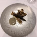 Grand rocher - 真鯛のポワレ マッシュルームペースト きのこのソテー