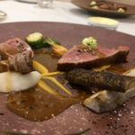 Grand rocher - 鹿児島県産A4ランク黒毛和牛サーロインのポワレ エシェロットと白ワインと白ワインビネガーのソース