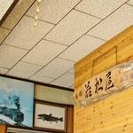 若松屋 - 昔はSLも走ってました&岩魚の魚拓です