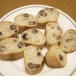 coton bakery - 大納言の断面