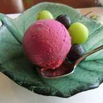 レストラン シャンモリ - ぶどうシャーベット
