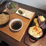 Real Grill Kitchen - 手造りハンバーグ定食(2019/11/06撮影)