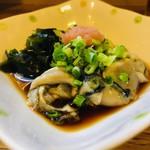 ふうすけ - 旬の牡蠣は贅沢な突出しだ!