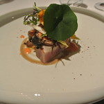 リストランテ カノフィーロ - 軽く炙ったブリ 色々キノコのマリナート