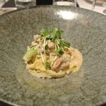 リストランテ カノフィーロ - 昆布森産牡蠣と白菜のアーリオオーリオ スパゲッティ