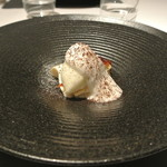 リストランテ カノフィーロ - ココナッツのジェラートとリンゴのタタン ティラミス