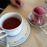 ペペチーノ - ドルチェセット 紅茶とソルベ