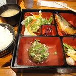 11961701 - 10品ランチ(800円) 鯖の西京焼き