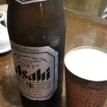 橙 - 生ビール(中瓶)(620円)