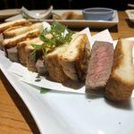 旬魚菜よし田 - 厚切りステーキサンド