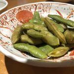 旬魚菜よし田 - 茶豆