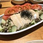 旬魚菜よし田 - 胡麻豆腐サラダ