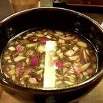 つけ麺 山崎 - 昆布水つけ麺(醤油)つけ汁(2019.10)