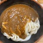 牧のうどん - カレーうどん、カレーはスープではなくトロミのルウです。