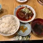 路地裏 - 激辛牛すじ煮込定食 800円