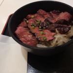 吾照里 - ハラミステーキ丼、アップ