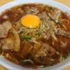 いのたに - 料理写真:中華そば肉入り(中)と生卵