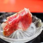 にくの匠 三芳 - 神戸牛モモ肉の生ハムメロン