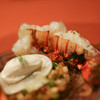 THE HIRAMATSU HOTELS&RESORTS - 料理写真:伊勢海老の備長炭グリエ 生ハム、柿、蕪のパンデピス風味 ホワイトバルサミコビネガーのクリーム☆