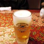 魚炉助 - キリン一番絞り 中ジョッキ ¥500-
