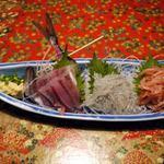 魚炉助 - 沼津三点盛り合わせ ¥1,580-