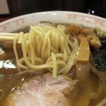中華めん処 道頓堀 - 麺はツルツル!