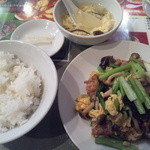 11968929 - 豚肉と野菜の炒めランチ