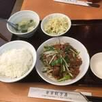 安安餃子房  - 週替わり定食の一つ ニラレバ定食780円(税込)