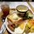 アペティート カフェ - ◆モーニングプレート(税込:1018円)・・ドリンクは「「珈琲」「紅茶」「パラダイストロピカルティー」「オレンジジュース」などから選べます。 ドリンクはその場で渡され、お料理は10分弱で提供されました。