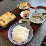 與五郎 - お袋は、明石焼風出し巻き玉子定食1000円(税別)(2019.11.14)