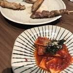 119688651 - 山芋のキムチと串焼き