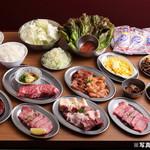大阪焼肉・ホルモン ふたご - 料理写真:銀メダルコース