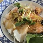 大阪屋 - 醤丼(ひしおどん)(お醤油をかけた後です。)